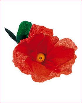 Blume aus krepp papier fr hlingsbasteln bastelideen die sachenmacher - Fruhlingsbasteln kindergarten ...