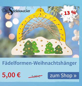 Sachenmacher Fädelformen-Weihnachtsanhänger