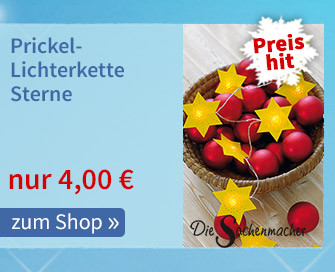 Prickel-Lichterkette Sterne